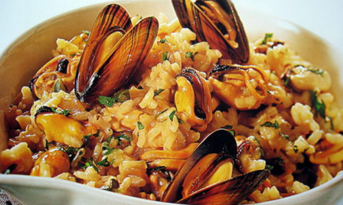 Mussels Risotto