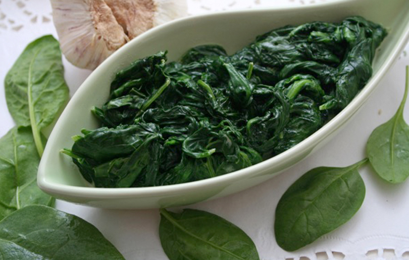 Your Child's Food cooked-spinach