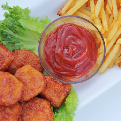 Kids' Chicken Nuggets with Homemade Fries and Special Sauce