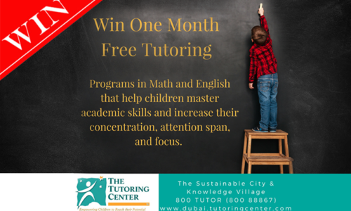 Win one month of free tutoring from The Tutoring Centre worth over AED 2000