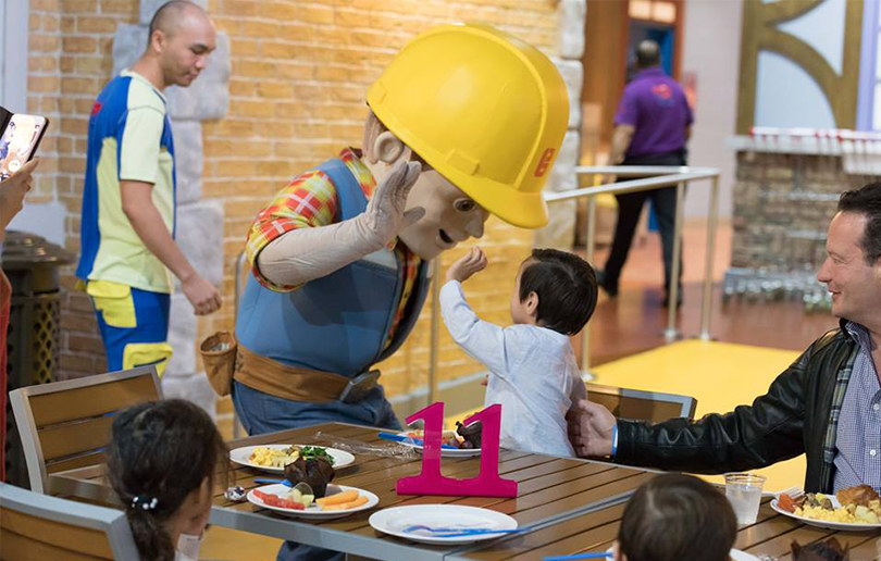 Mattel play town Dubai breakfast
