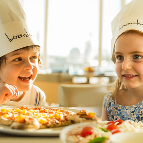 "Kids get a ""pizza the action"" and unleash their culinary creativity!"