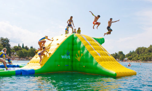 The FIRST bouncy water park in Fujairah is now open!