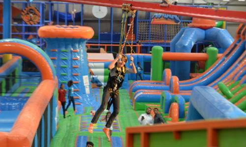 A new indoor adventure park has opened in Dubai