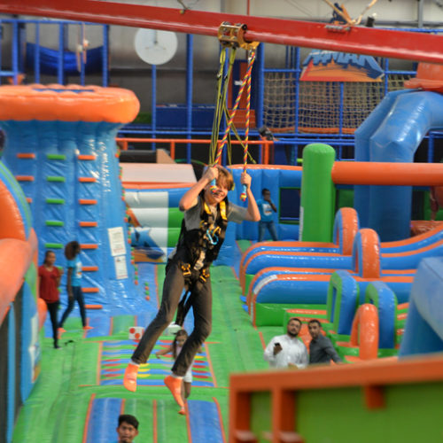 A new indoor adventure park has opened in Dubai