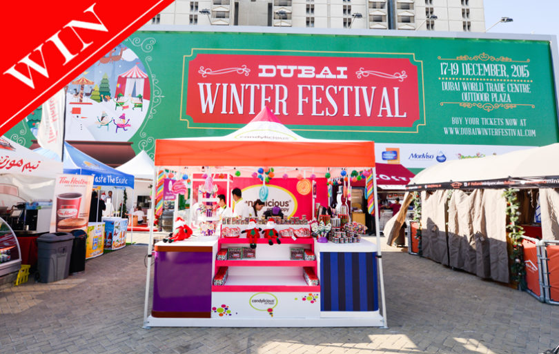 Win 1 of 5 entries for a Family of 4 to Dubai Winter Festival worth AED 340 each!