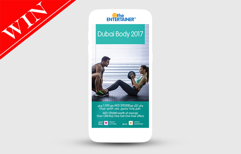 Win The Entertainer Dubai's Body App Worth AED 345
