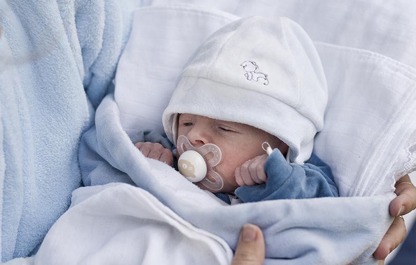 UAE new mum sleeping
