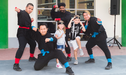 Legoland Dubai ninja training for kids