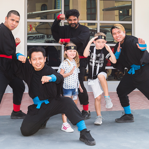 Legoland Dubai ninja training for kids