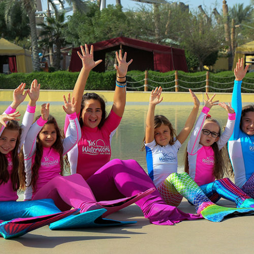 Popular kids' mermaid school is back at Yas Waterworld!