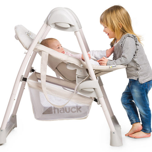 Support your baby from birth with Hauck's 2-in-1 highchair