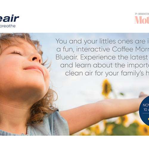 You and your little ones are invited to a Playdate with Blueair on 20th November!