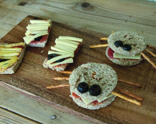 Halloween Crab Sandwiches