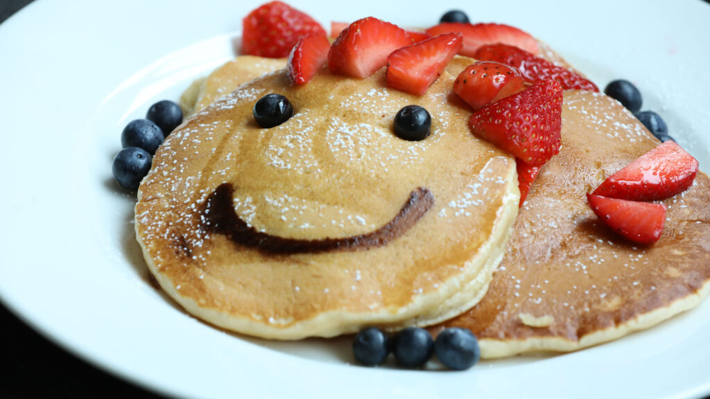 Recipe: Berry Smiley Pancake Stack