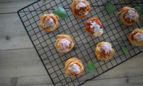 Recipe: Spaghetti Meatball Cups