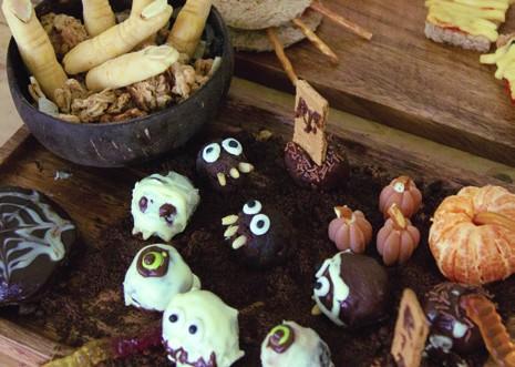 Halloween Brownie Bites