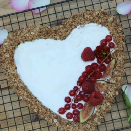 Recipe: Coconut Granola Love Heart Tart