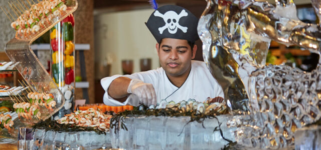 Win a Pirates & Mermaids Brunch voucher for 4 people (soft drink package) at Mazina, Address Dubai Marina, worth AED 1,300!