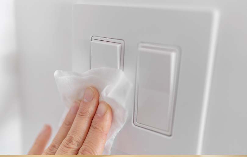Have you ever wondered how bacteria becomes hidden on light switches and handles?