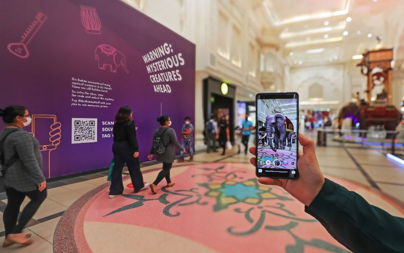 An invitation to come see the dragon at Ibn Battuta  might sound crazy, but you can take a free 'AR' walking tour and see other animals too!