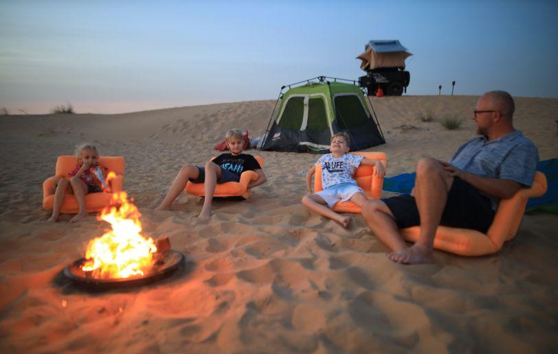 Desert glamping with children