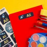 Child name stickers helping keep kids virus-safe at school