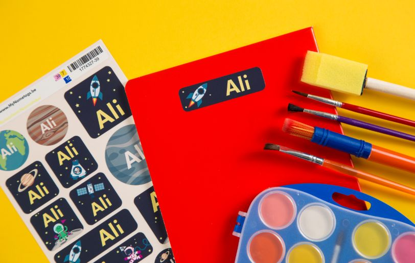 Child name stickers and labels are helping to protect school kids from virus spread