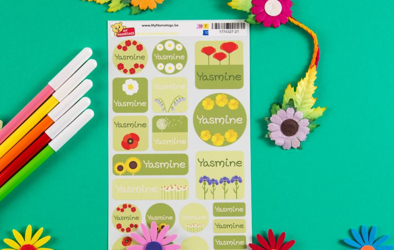 Child name stickers and labels