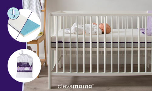 WIN! A COOL GEL BABY MATTRESS FROM CLEVAMAMA WORTH AED 620, PLUS A LUXURIOUS MATTRESS PROTECTOR